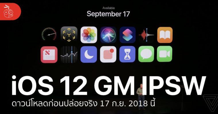 Ios 12 Gm Ipsw Download Link