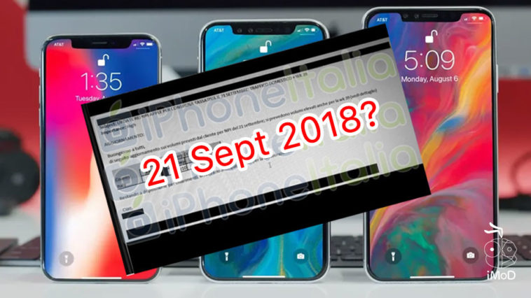 Iphone Xs Iphone Xc May Ship 21 Sept 2018 Leaks By Italy Carrier