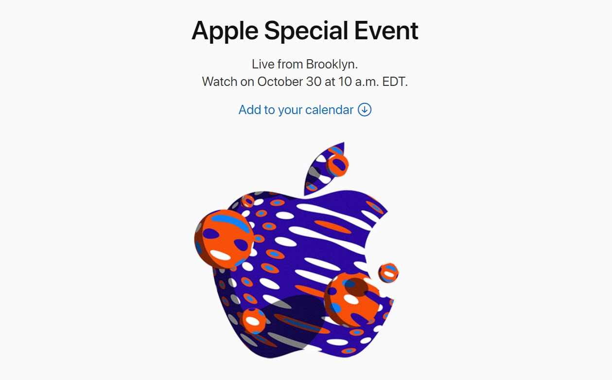 Apple Event 30 Oct 2018 Confirm Img 2