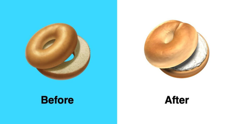 Apple Fixed Bagle Emoji Ios 12 1