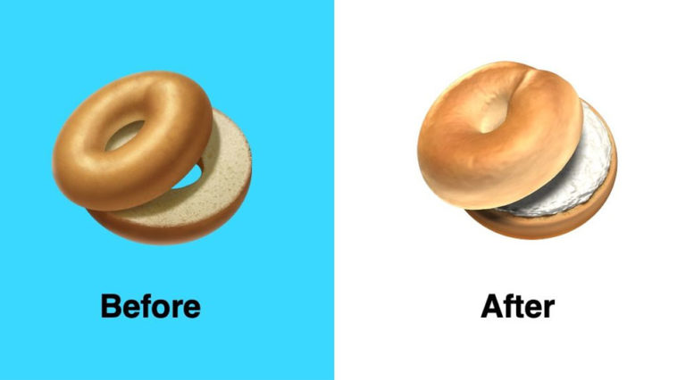 Apple Fixed Bagle Emoji Ios 12 1