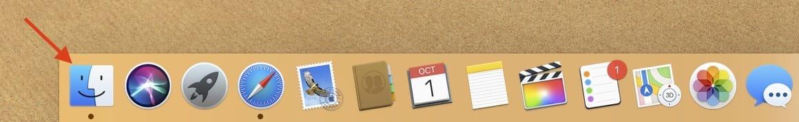 Finder App Locate On Dock