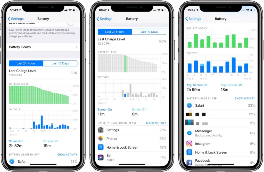 Ios 12 Battery Section Check