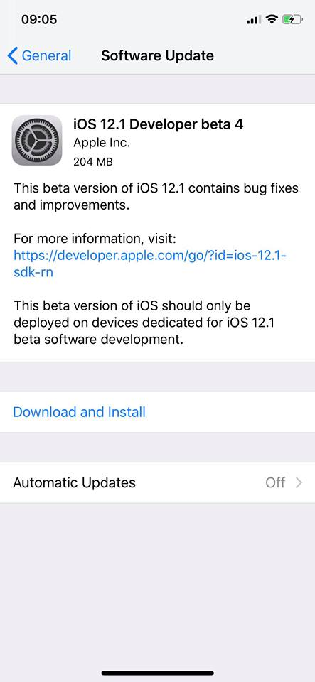 Ios 12 1 Developer Beta 4 Seed Img 1