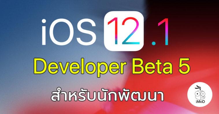 Ios 12 1 Developer Beta 5 Seed