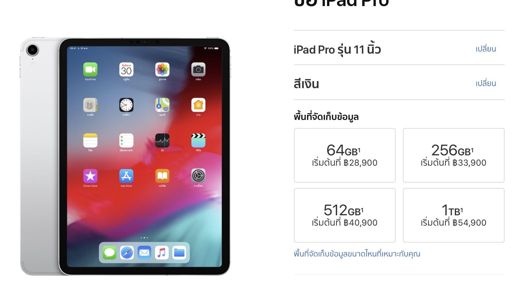 Ipad Pro 11 Inc Wifi ราคา 2