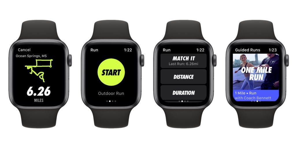 Nike Run Club Update Support Apple Watch Series 4 1