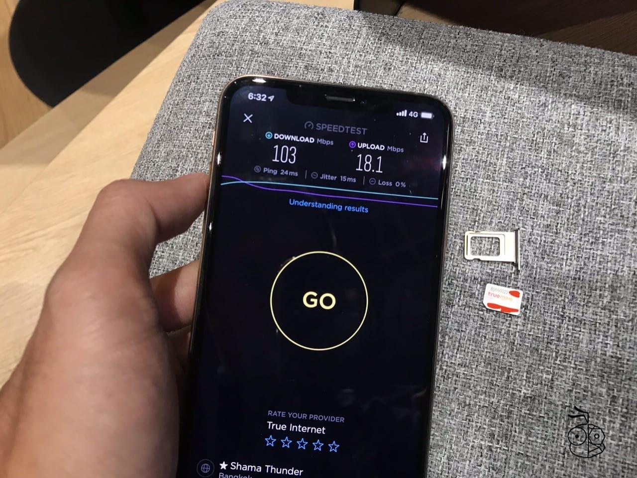 Truemove H Esim Speedtest Iphone Xs Max