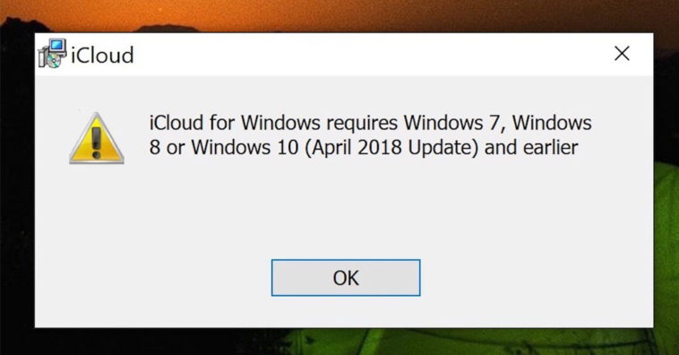 Icloud For Windows 10 1809 Compatibility Issues