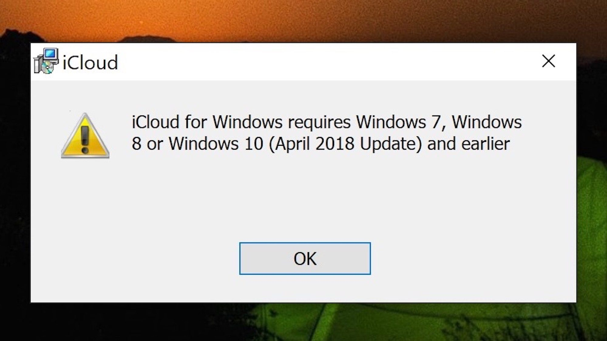 Icloud For Windows 10 1809 Compatibility Issues Img 2