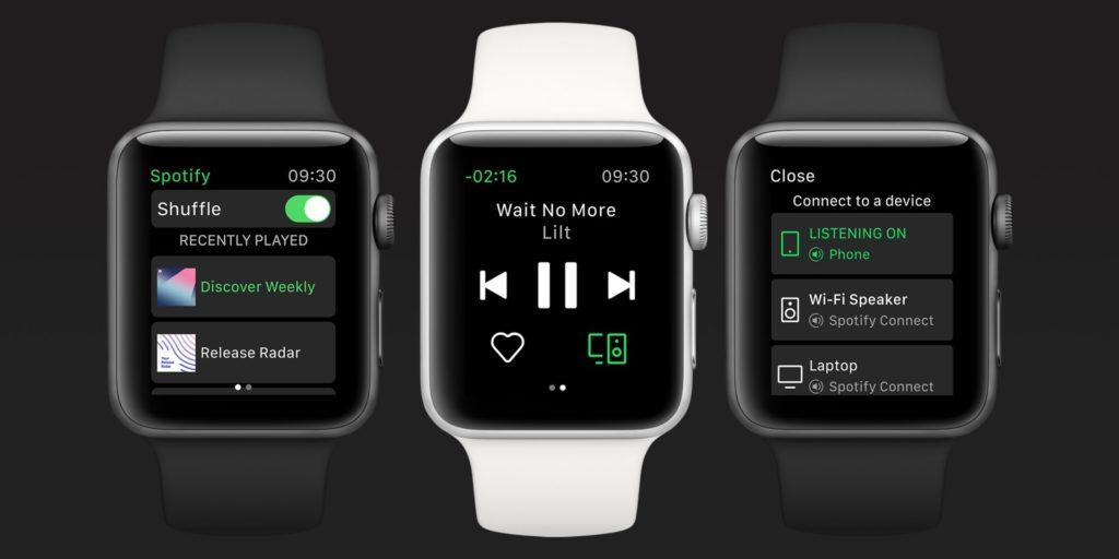 Spotify Release For Apple Watch 1