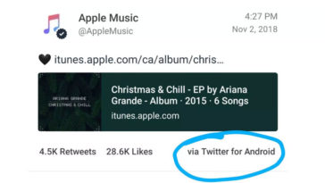 Apple Music Account Use Android Device Post At Twitter