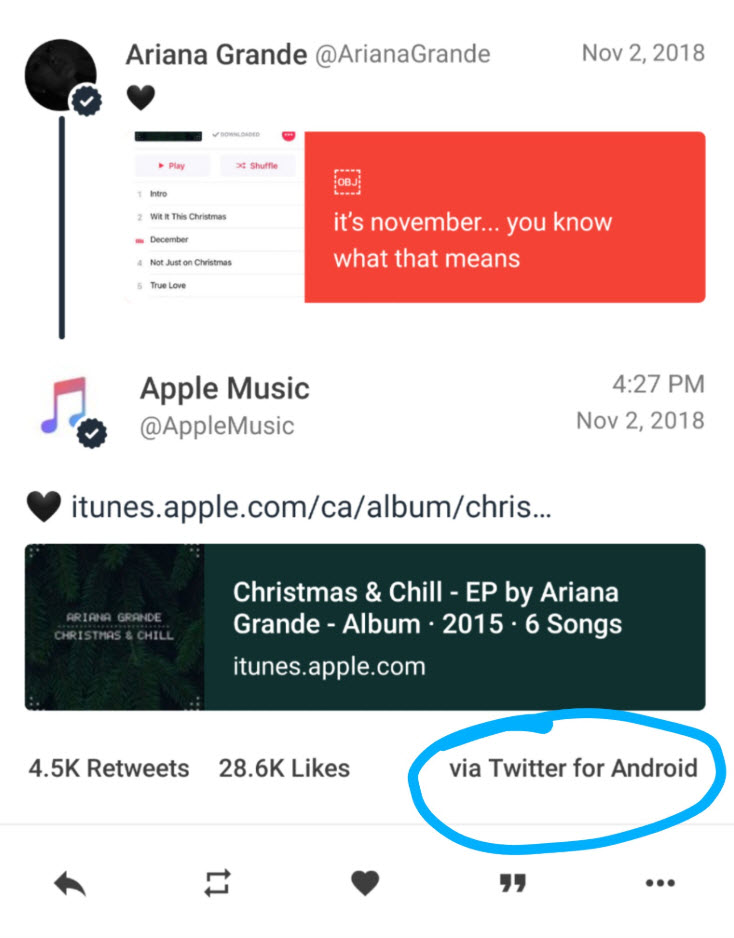 Apple Music Account Use Android Device Post At Twitter Img 1