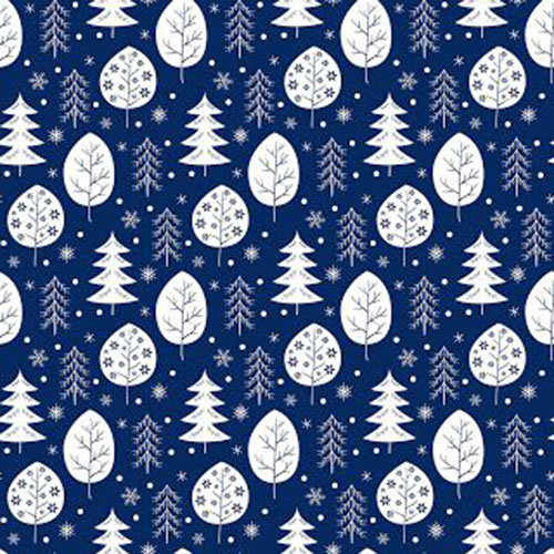 Seamless Pattern With Snowflakes And Trees For Your Design.