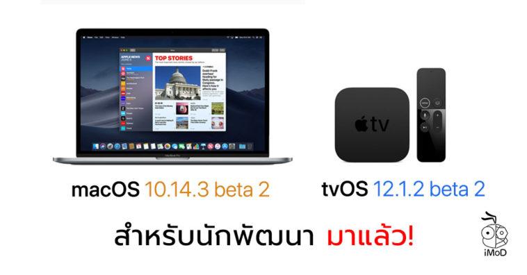 Macos 10 14 3 Beta 2 And Tvos 12 1 2 Beta 2 Seed