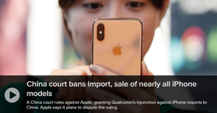 Qualcomm Wins Apple Ban Old Iphone Model In China