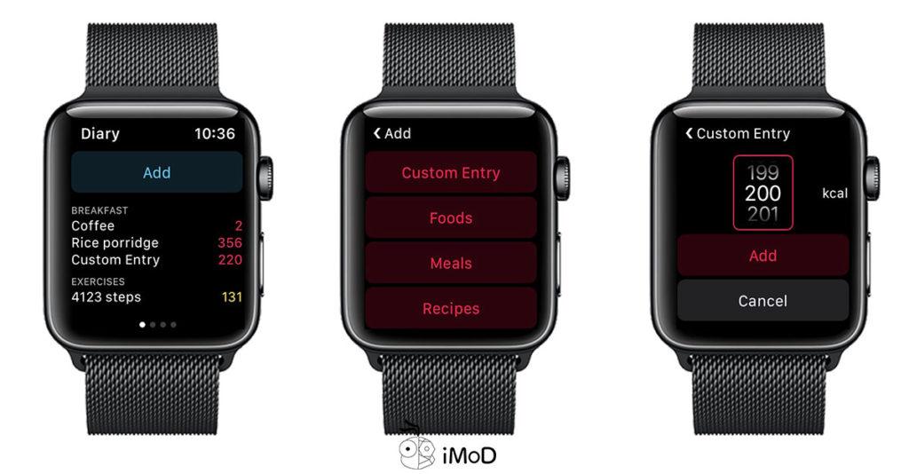 Yazio Calories Count App On Apple Watch 2