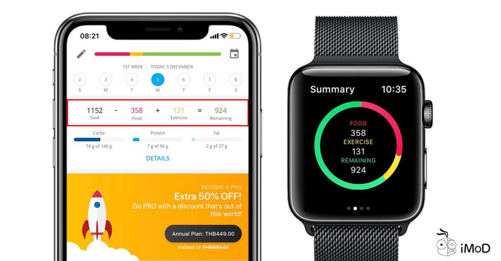 Yazio Calories Count App On Apple Watch 3