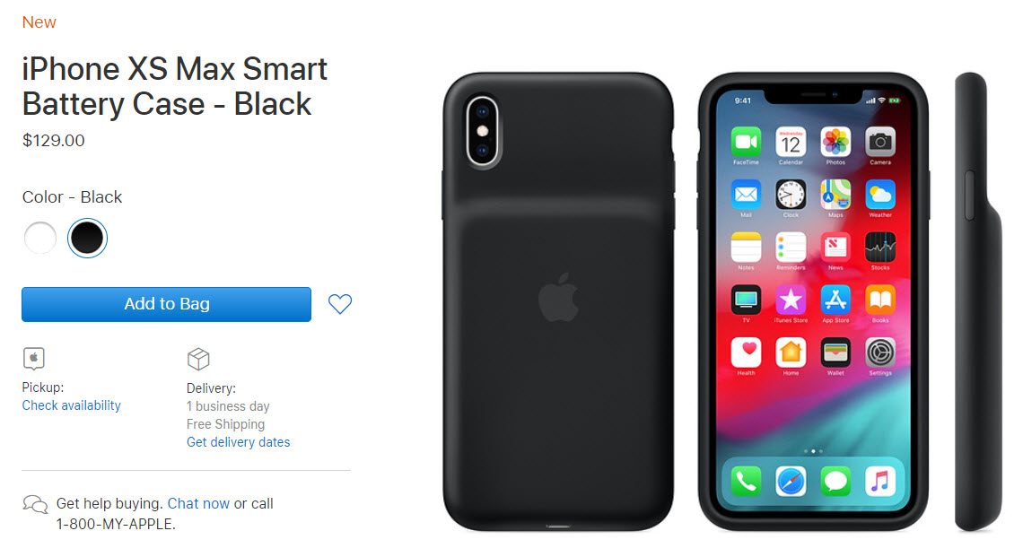 Apple Released Smart Battery Case Iphone Xs Xsmax Xr Img 4