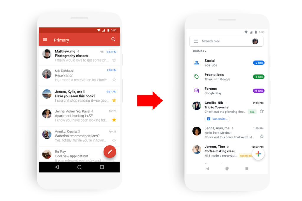 Gmail App Prepare Release Material Design Ios Android 1