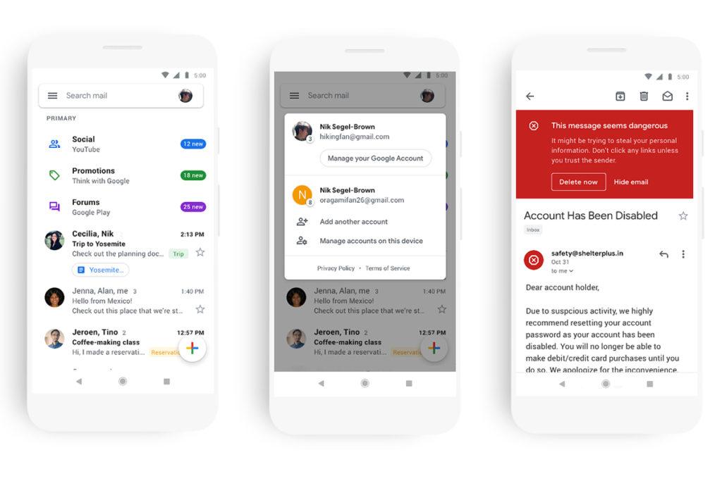 Gmail App Prepare Release Material Design Ios Android 2