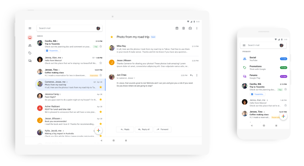 Gmail App Prepare Release Material Design Ios Android 3