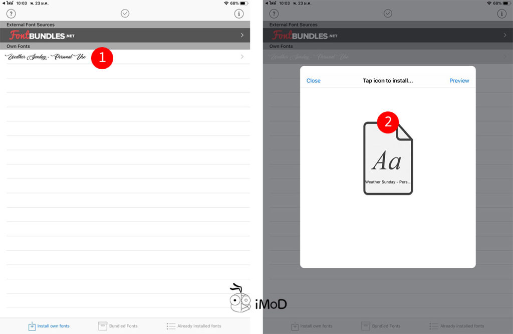 How To Install Other Font Iphone Ipad 3