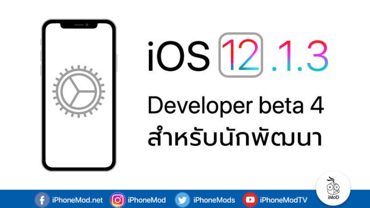 Ios 12 1 3 Developer Beta 4 Seed