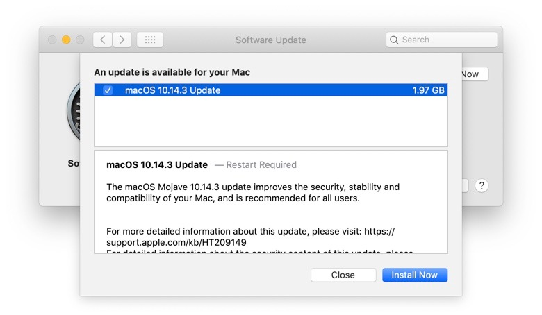 Mac Os 10 14 3 Released Img 1