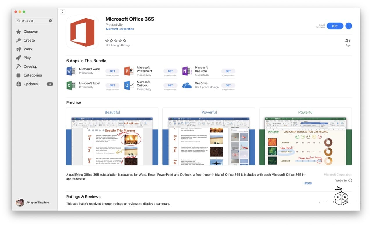 Ms Office 365 On Mac App Store