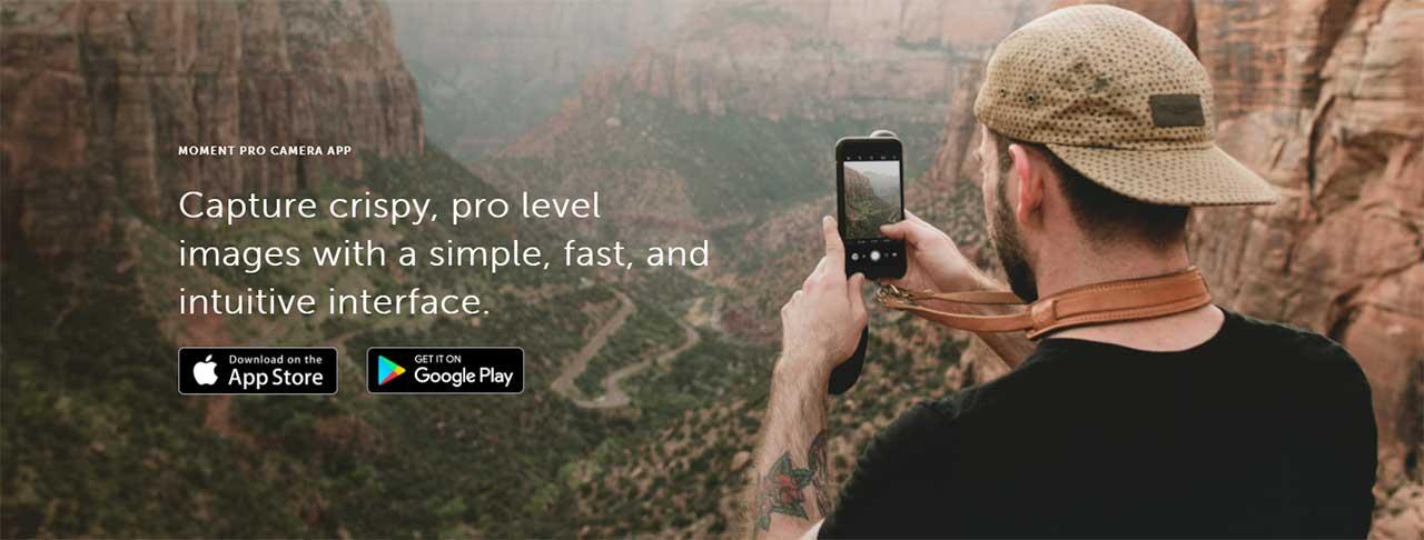 App Moment Pro Camera Footer