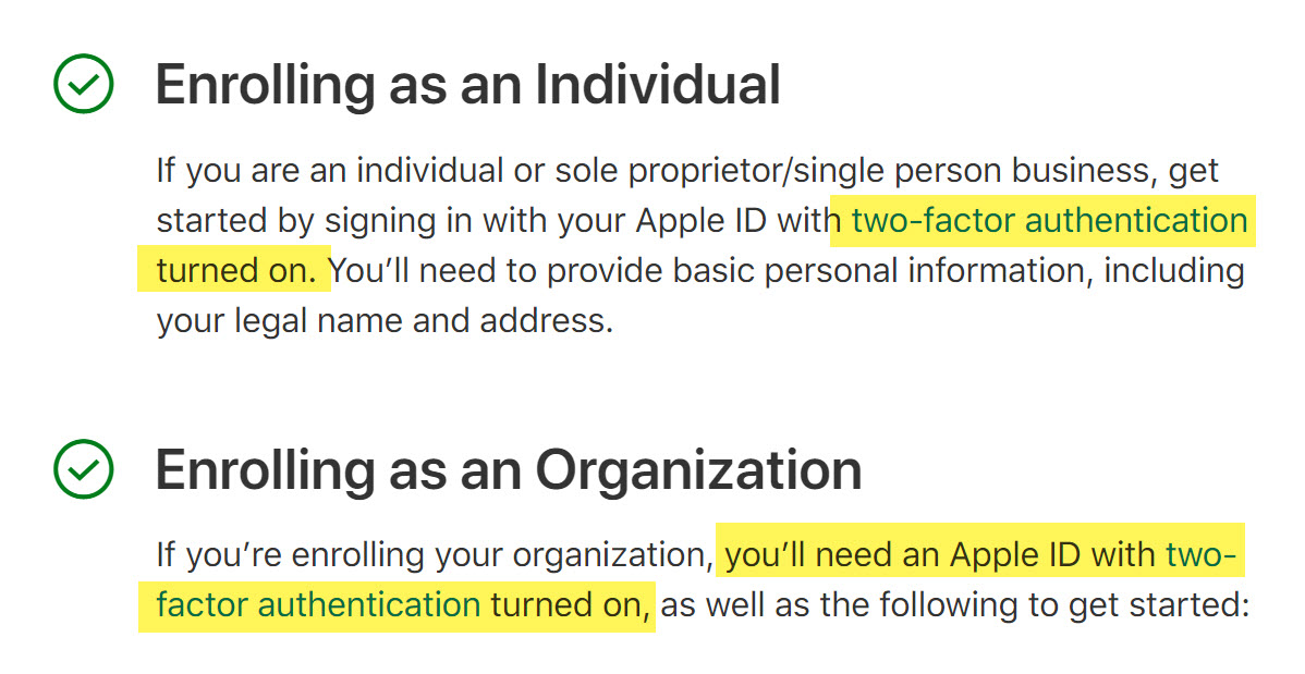 Apple Developer Two Factor Requirement Img 1