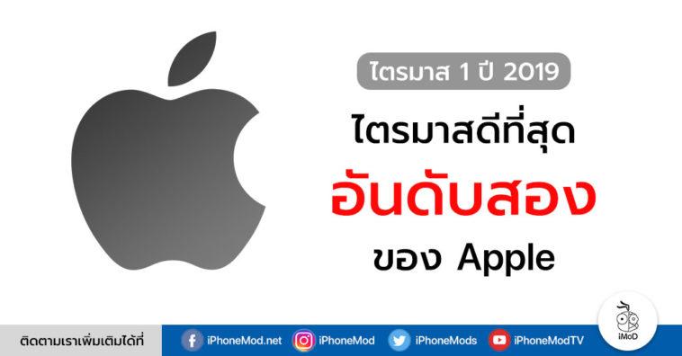 Apple Q1 2019 Second Best Revenue