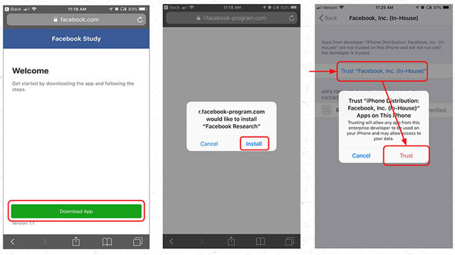 Facebook Enterprise Cert