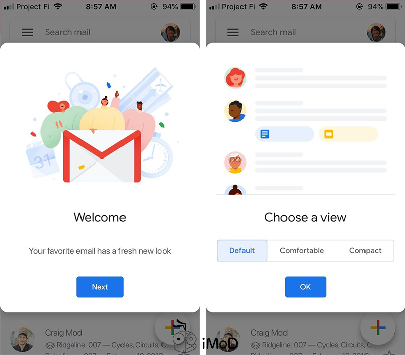 Gmailj Rolling Out Material Design For Ios 2