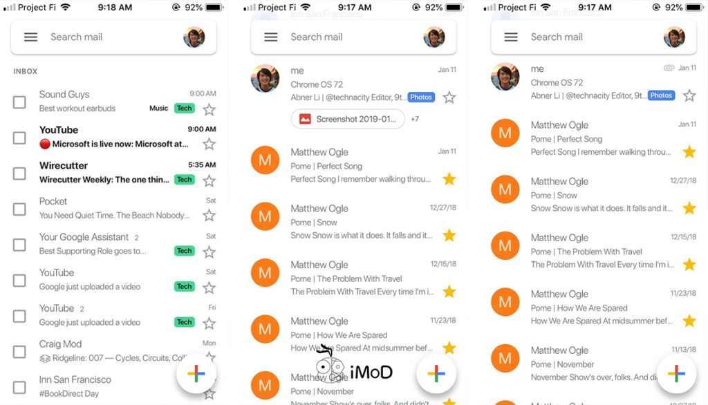 Gmailj Rolling Out Material Design For Ios 3