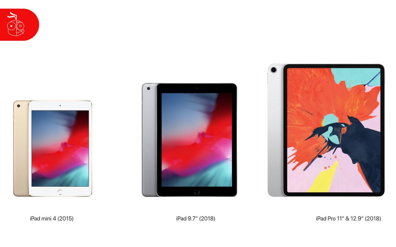 Ipad Mini 4 Ipad 9.7 Ipad Pro 11 12.9 2018