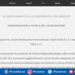 Italian Apple Homepage Iphone Battery Throttling Advisory
