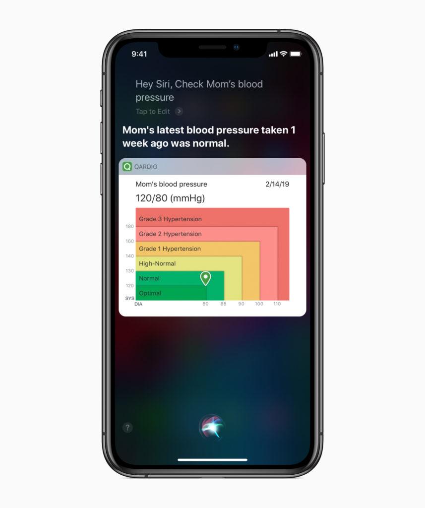 Apple Siri Shortcuts Health And Fitness Blood Pressure 02282019