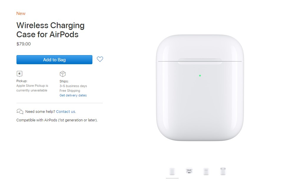 Apple Sale Wireless Charging Case For Airpods 1