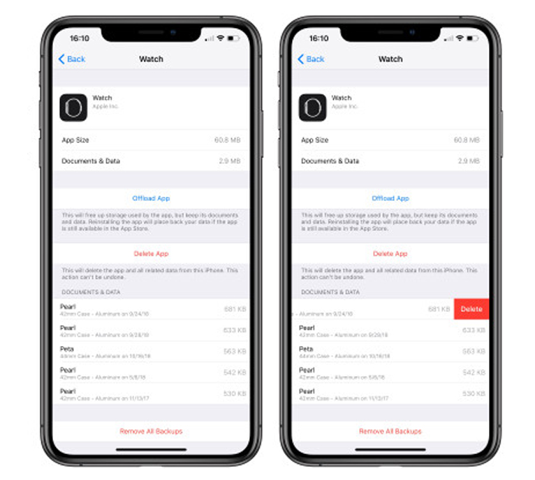 How To Delete Apple Watch Backup Data 3