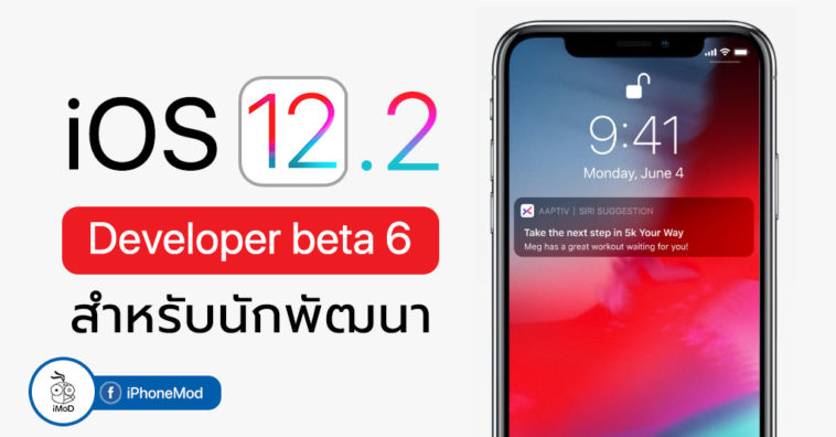 Ios 12 2 Developer Beta 6 Seed