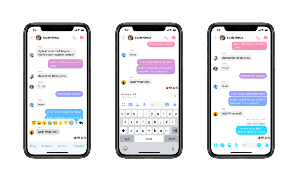 Messenge Update New Feature Reply Thread 1