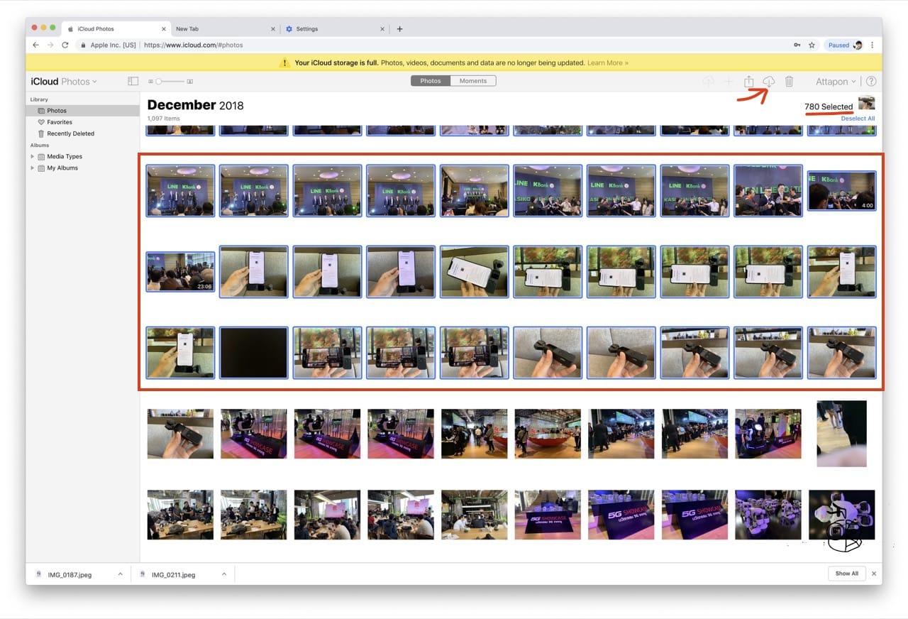 Select Photo Icloud Web