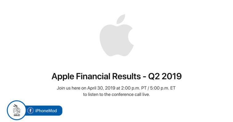 Apple Earning Q2 2019