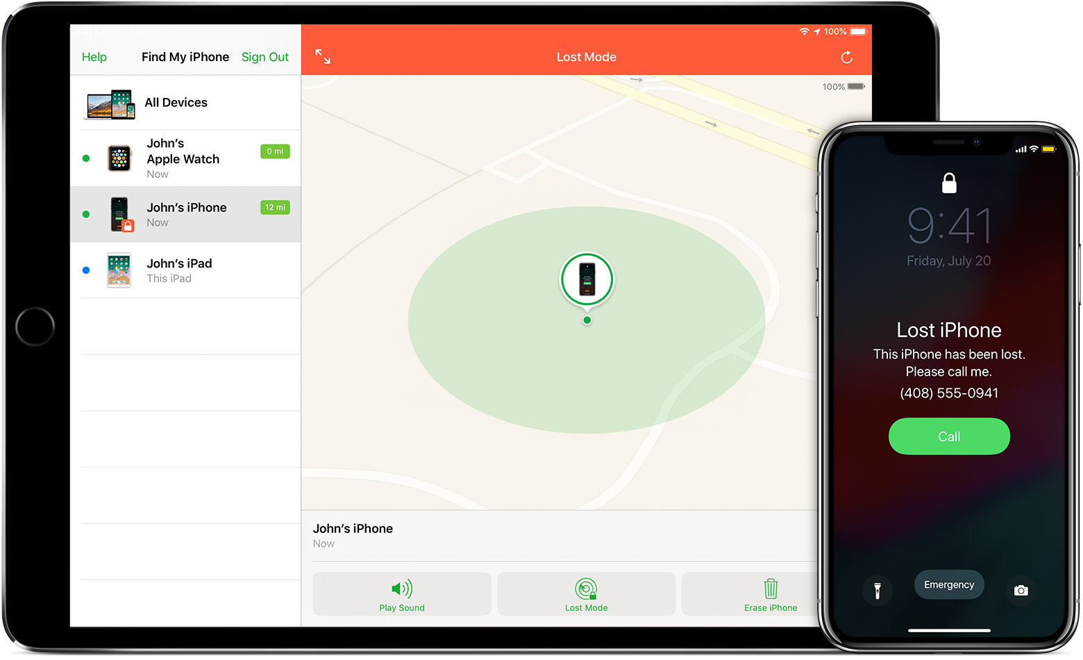 Ios12 Iphone X Ipad Pro Find My Iphone Lost Mode
