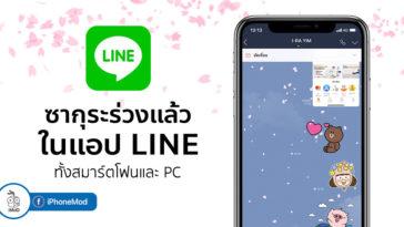 Line Welcome To Spring Festival Sakura