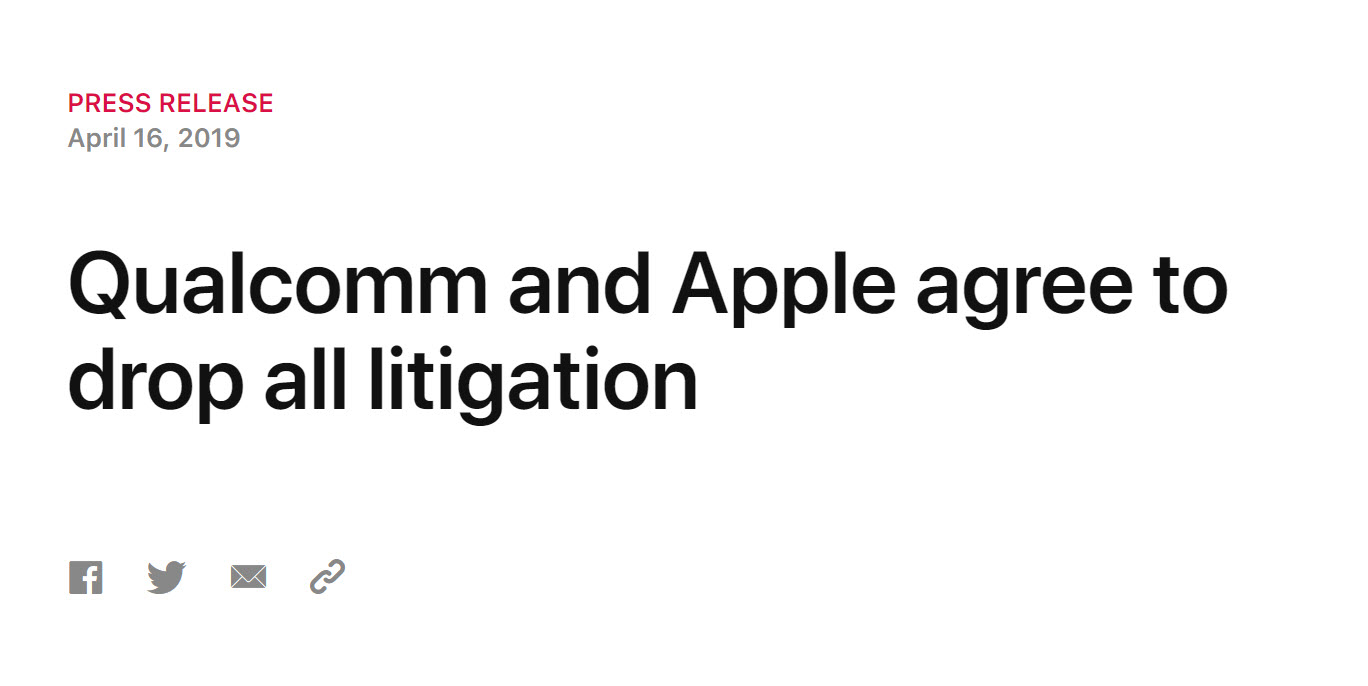 Qualcomm And Apple Agree To Drop All Litigation Img 1