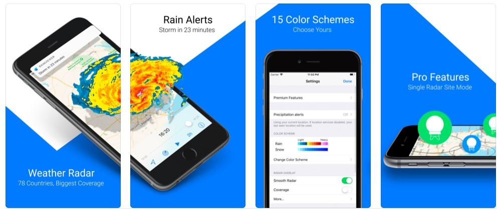 Rainviewer App Iphone Monitor Rain Storm Snow Realtime 5