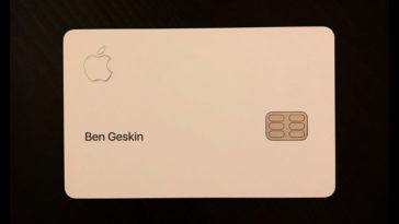 Apple Card Physical Card Photo Cover